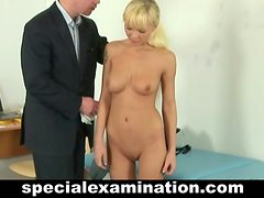 Nasty gynecologist and blonde teen babe