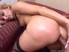 Lustful blonde MILF gets fucked and creampied