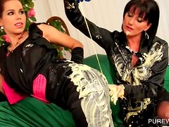 WAM party with clothed sluts getting messy with cream