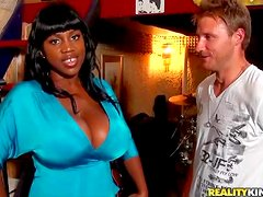Maserati is a curvy black milf with enormous titties. This