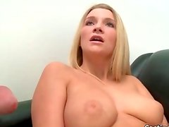Fit blonde with natural tits gets fucked