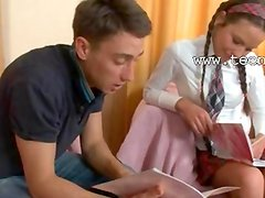Hot lesson of elegant russian teen