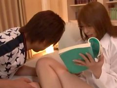 MILF Jessica Koizaki is a horny tutor, who rides her student's cock
