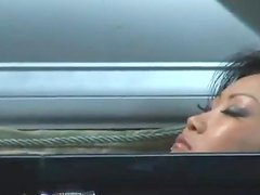 Lucy Lee the beautiful Asian babe gets double penetrated