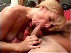 Horny blonde milf gets pussy licked then drilled