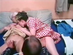 Two retro babes get seduced in to steamy threesome