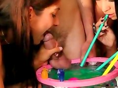 Sexy topless girls doing a dirty sex