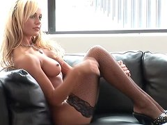 Sexy blonde Jurgita Valts boasts of her amazing body
