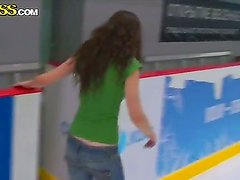 Sexy Masha gets seduced and convinced into having a wild threesome while skating