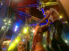 Stripper sucks his cock in the club
