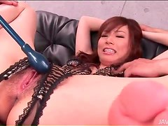 Crotchless panties make Japanese girl sexy