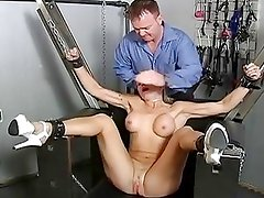 Hot Cheating Blonde Strapped To...