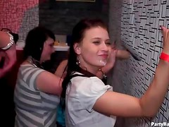 Dildo squirting mess at the club