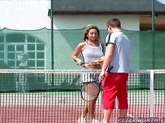 Hot Sex in Tennis Court with Busty Babe Daria Glower