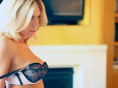 Lovely Talor Paige poses in sexy lingerie in the bedroom
