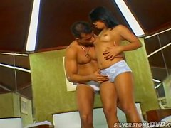 Cute Latina Sandy gets her hot asshole drilled hard