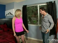 Shaye Bennette gets hotly fucked after giving a good blowjob