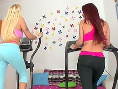 Two amazing anal whores Alana Evans and Tiffany Mynx showing off their asses