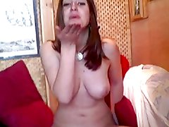 fit girl flashes for boyfriend on webcam