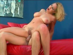 Hairy trimmed pussy girl sits on a dick