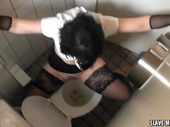 Slutwife in the public restroom