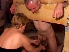 Kinky party with subs and dominants