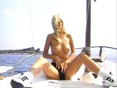 Blonde babe on boat fucked in the cunt