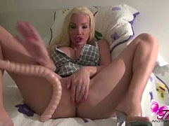 Ana Mancini and her dildo
