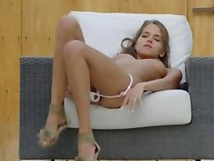 Self pleasure of beautiful france babe