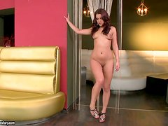 Angel Rivas Plays With Her Perfectly Shaved Pussy
