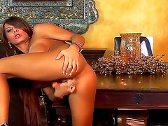Busty and glamorous girl named Madison Ivy masturbates and shows her gorgeous body
