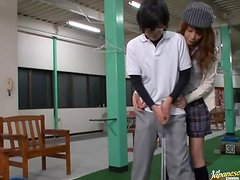 A Golf Lesson Turns Into Cock Riding From A Hot Teen