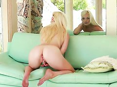 Passionate blonde Zoey Paige with small