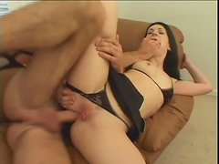 Beauty in a bikini goes anal and gives ATM blowjob