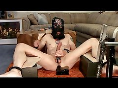 Whipping Machine Torture Punishment of Pussyboy's Asshole