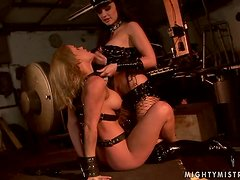 Gorgeous and dangerous Aletta Ocean is torturing  Janny