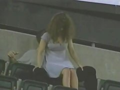 Spy cam catches some hot busty women. Retro compilation
