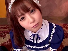 Beautiful Japanese Maid Hirono Imai Giving a Hot POV Blowjob
