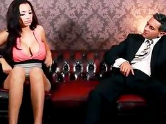 Porcha Sins the sexy brunette girl getting fucked on a rare sofa