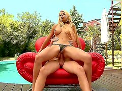 Hardcore outdoor anal scene with an awesome and beautiful blonde whore Niky Gold