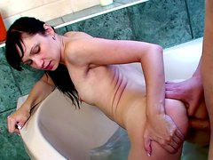 Augustin and Kamila in the stunning bathroom sex vid