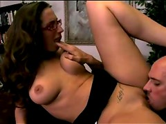 Her hot big natural tits make office sex amazing