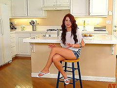 Interview movie with gorgeous redhead bombshell named Adriana Chechik