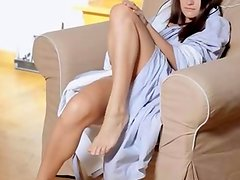 brunet love solo masturbation