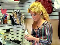 Eve Evans works in the store