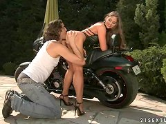 Bikers make Cathy Heaven lose her mind and go wild