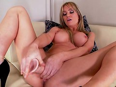 Angela Sommers takes off her dress in a hot way