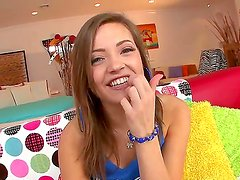 Playful Ashlynn Leigh strips and teases my friend making him crazy hot and wild