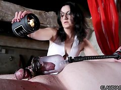 french domina candle wax and fist anal claudiacuir