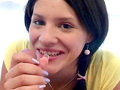 Maia Toscani tastes delicious dick with smile!